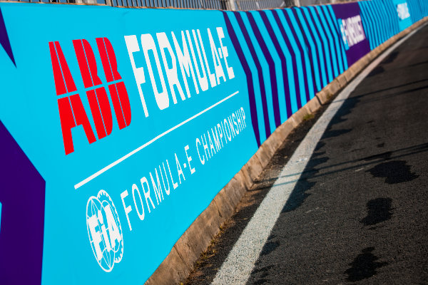 2017/2018 FIA Formula E Championship.Round 3 - Marrakesh ePrix.Circuit International Automobile Moulay El Hassan, Marrakesh, Morocco.Friday 12 January 2018.ABB FIA Formula E Championsip logos.Photo: Sam Bloxham/LAT/Formula Eref: Digital Image _J6I9278