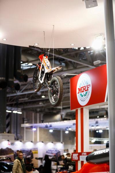 Autosport International Exhibition. National Exhibition Centre, Birmingham, UK. Sunday 14th January, 2018. The MRF stand.World Copyright: Ashleigh Hartwell/LAT Images Ref: _R3I9540