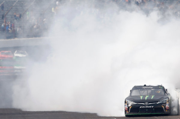 24-25 July, 2015, Indianapolis, Indiana USA Kyle Busch, Monster Energy Toyota Camry celebrates winning the Lilly's Diabetes 250 ?2015, Brett Moist LAT Photo USA
