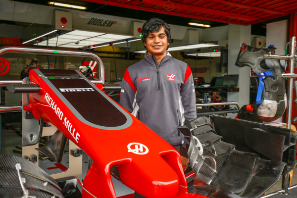 Circuit de Catalunya, Barcelona, Spain. Thursday 11 May 2017. Arjun Maini, Development Driver, Haas F1 Team. World Copyright: Andy Hone/LAT Images ref: Digital Image _ONZ2938