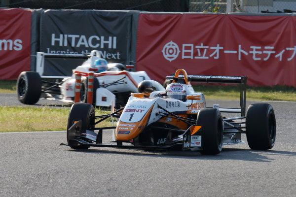 2017 Japanese Formula 3 Championship. Suzuka, Japan. 22nd - 23rd April 2017. Rd 4 & 5. 3rd position Sho Tsuboi ( #1 Corolla Chukyo Kuo TOM?S F317 ) action World Copyright: Yasushi Ishihara / LAT Images. Ref: 2017JF3_Rd4_006