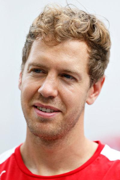 Interlagos, Sao Paulo, Brazil. Saturday 14 November 2015. Sebastian Vettel, Ferrari. World Copyright: Charles Coates/LAT Photographic ref: Digital Image _J5R4685