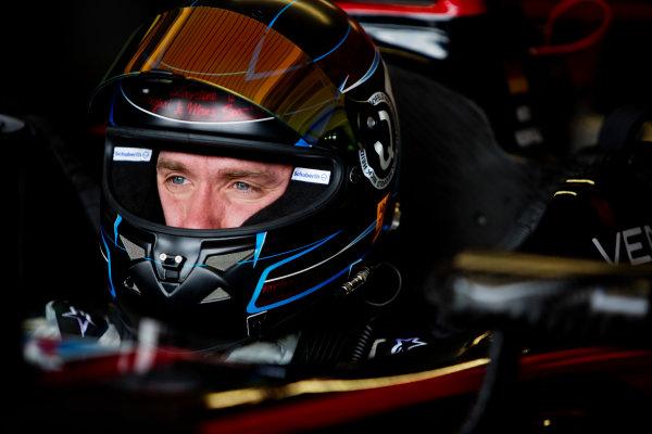 FIA Formula E Test Day, Donington Park, UK.  3rd - 4th July 2014.  Nick Heidfeld, Venturi Grand Prix. Photo: Malcolm Griffiths/FIA Formula E ref: Digital Image A50A2815