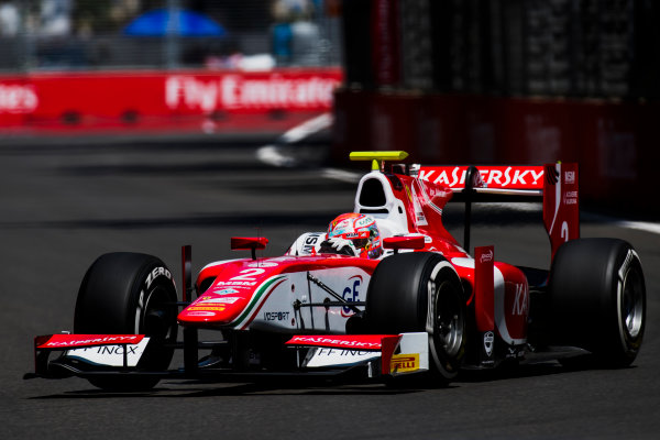2017 FIA Formula 2 Round 4. Baku City Circuit, Baku, Azerbaijan. Friday 23 June 2017. Antonio Fuoco (ITA, PREMA Racing)  Photo: Zak Mauger/FIA Formula 2. ref: Digital Image _54I9842