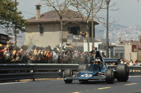 Montjuich Park, Barcelona, Spain.27-29 April 1973.George Follmer (Shadow DN1A Ford) 3rd position, action.World Copyright - LAT Photographic