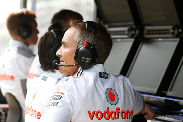 Buddh International Circuit, New Delhi, India. Friday 25th October 2013. Martin Whitmarsh, Team Principal, McLaren. World Copyright: Charles Coates/LAT Photographic. ref: Digital Image _N7T9752