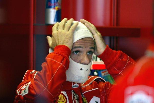 2002 Canadian Grand Prix - PracticeMontreal, Canada. 7th June 2002Rubens Barrichello (Ferrari).World Copyright: Steve Etherington/LATref: Digital Image Only