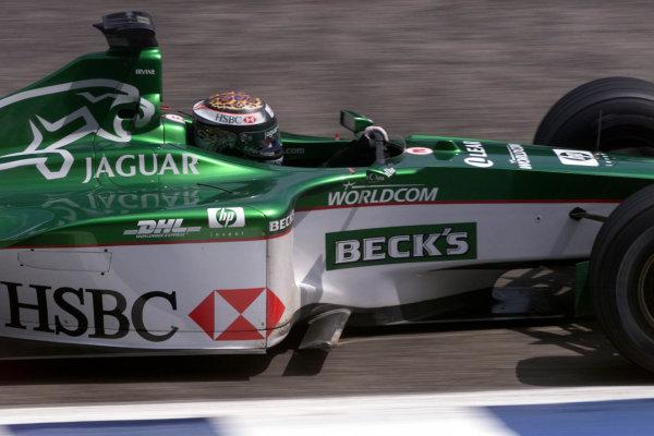 2000 German Grand Prix.Hockenheim, Germany.28-30 July 2000.Eddie Irvine (Jaguar R1).World Copyright - Bellanca/LAT Photographicref 5mb Digital: Qualifying.