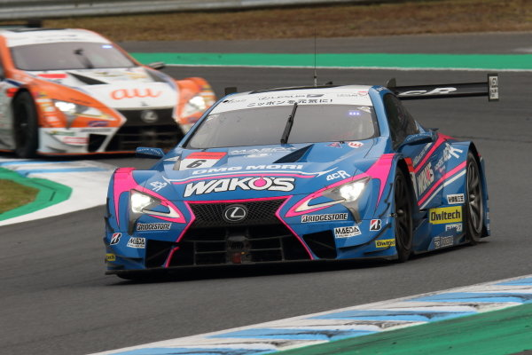Second position in GT500 and 2019 Drivers' champions Kazuya Oshima & Kenta Yamashita, Lexus Team Le Mans Wako's Lexus 4CR LC500