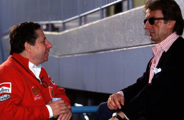 Japanese Grand Prix.Suzuka, Japan.30/10-1/11 1998.Ferrari Team Principal Jean Todt with Ferrari President Luca di Montezemolo.World Copyright - LAT Photographic
