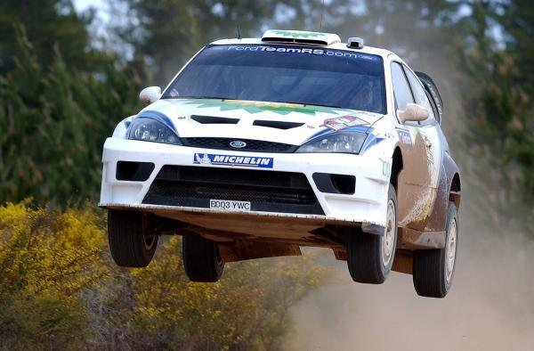 Francois Duval (BEL) / Stephane Prevot (BEL) Ford Focus RS WRC 03.