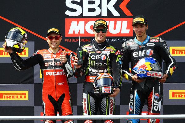 Alvaro Bautista, Aruba.it Racing-Ducati Team, Jonathan Rea, Kawasaki Racing Team, Toprak Razgatlioglu, Turkish Puccetti Racing.