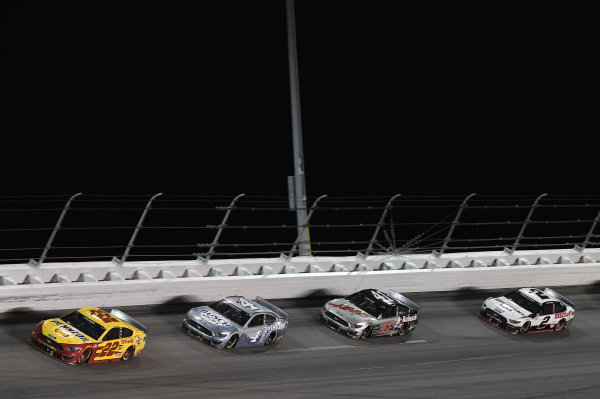 #22: Joey Logano, Team Penske, Ford Mustang Shell Pennzoil #4: Kevin Harvick, Stewart-Haas Racing, Ford Mustang Busch Light #TheCrew #41: Cole Custer, Stewart-Haas Racing, Ford Mustang HaasTooling.com #2: Brad Keselowski, Team Penske, Ford Mustang Discount Tire