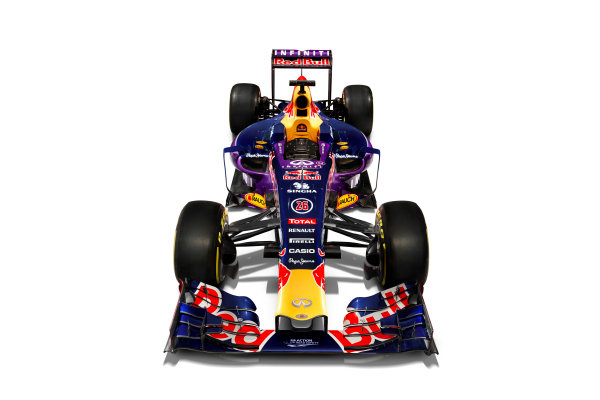 Infiniti Red Bull Racing RB11 Studio Images. Milton Keynes, UK. Sunday 1 March 2015. The Red Bull Racing RB11. Photo: Red Bull Racing (Copyright Free FOR EDITORIAL USE ONLY) ref: Digital Image RB11_LIVERY_06