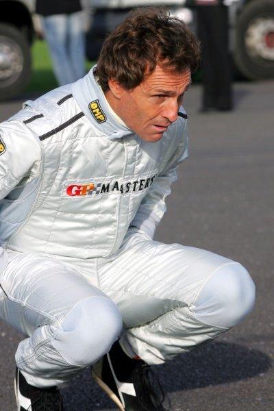 Andrea de Cesaris (ITA). Grand Prix Masters Testing, Day One, Silverstone, England, 26 October 2005. DIGITAL IMAGE