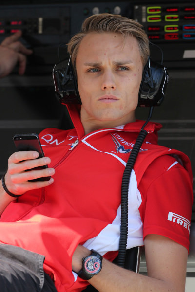 Max Chilton (GBR) Marussia F1 Team. Formula One Testing, Day One, Bahrain International Circuit, Sakhir, Bahrain, Wednesday 19 February 2014.