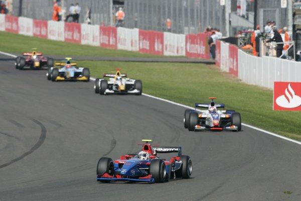 2007 GP2 Series Round 5. Silverstone, England. 8th July 2007. Sunday Race.Andreas Zuber (GER, iSport International). Action. World Copyright: Andrew Ferraro/GP2 Series Media Service.  ref: Digital Image _F6E6565