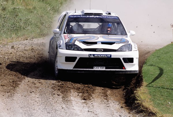 2003 World Rally ChampionshipRally New Zealand. 9th - 13th April 2003.Francois Duval/Stephane Prevot (Ford Focus RS WRC 03), 9th position.World Copyright: LAT Photographicref: 35mm Image A18