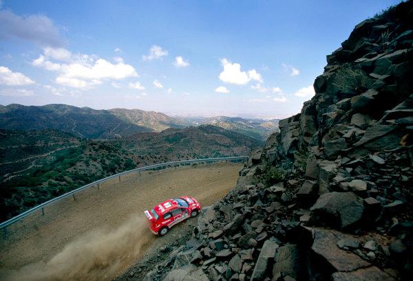 2003 World Rally ChampionshipRally of Cyprus, Cyprus. 19th - 22nd June 2003.Harri Rovanpera/Risto Pietilainen (Peugeot 206 WRC), action.World Copyright: McKlein/LAT Photographicref: 03WRCCyprus03