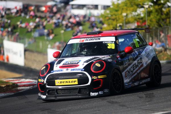 2017 MINI Challenge, Brands Hatch, Kent. 5th - 6th August 2017. Luke Caudle MINI JCW. World Copyright: JEP/LAT Images.