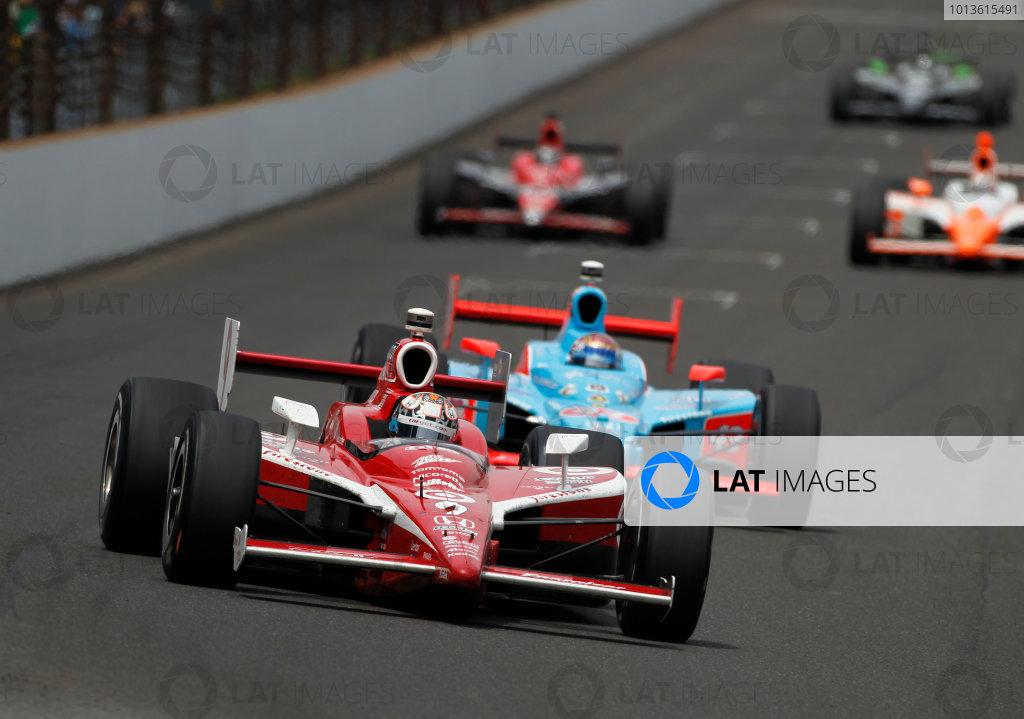 29 May, 2011, Indianapolis, Indiana, USAScott Dixon leads John Andretti, Dan WHeldon, Marco Andretti and Townsend Bell.© 2011 Phillip AbbottLAT Photo USA
