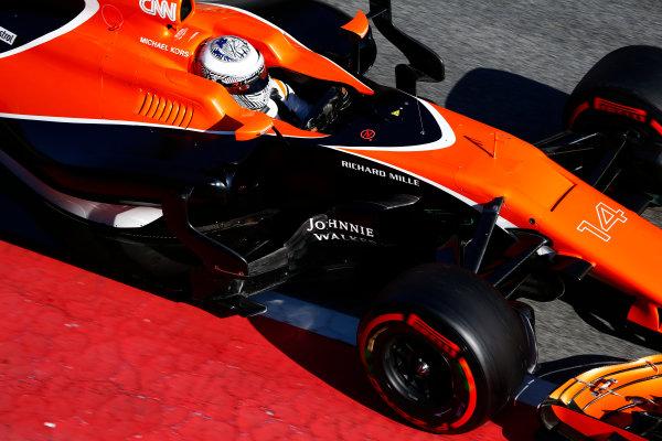 Circuit de Barcelona Catalunya, Barcelona, Spain. Friday 10 March 2017. Fernando Alonso, McLaren MCL32 Honda.  World Copyright: Zak Mauger/LAT Images ref: Digital Image _L0U6106