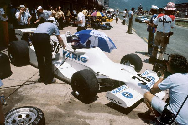 Jacarepagua, Rio de Janeiro, Brazil. 27-29 January 1978.  Riccardo Patrese (Arrows FA1-Ford) 10th position.  Ref: 78BRA03. World Copyright: LAT Photographic