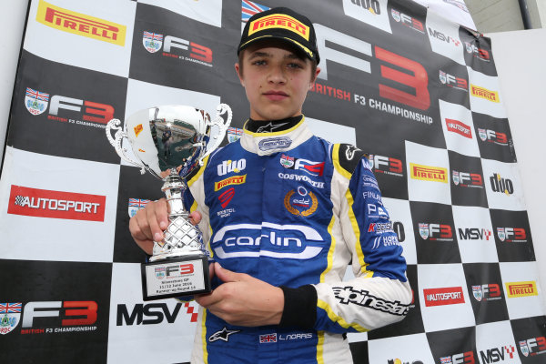 2016 BRDC Formula Three Championship, 11th-12th June 2016, SIlverstone, UK, Lando Norris (GBR) Carlin BRDC F4  World copyright. Ebrey/LAT Photographic