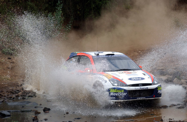2002 World Rally Championship.Safari Rally, Nairobi Kenya, July 11-14th.Colin McRae on section two.Photo: Ralph Hardwick/LAT