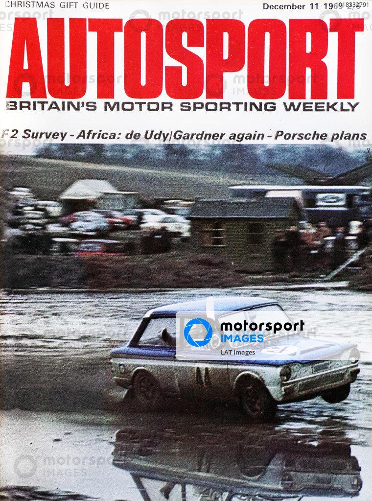 Cover of Autosport magazine, 11th December 1969