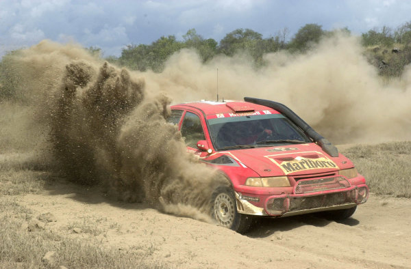 2001 World Rally Championship.Nairobi, Kenya. July 20-22, 2001Freddy Loix kicks up the dust in section 6.Photo: Ralph Hardwick/LAT