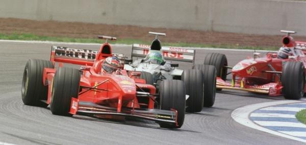 1998 Spanish Grand Prix.Catalunya, Barcelona, Spain.8-10 May 1998.Michael Schumacher (Ferrari F300) 3rd position.World Copyright - Steve Etherington/LAT Photographic