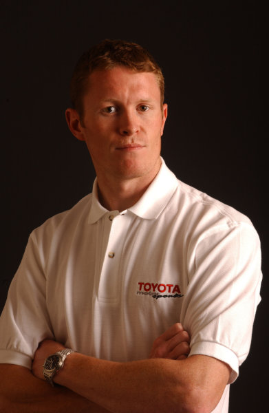 2003 IRL Test in the West.California Speedway, Fontana, California, USA.3-4 February 2003. Scott Dixon (Chip Ganassi Racing) wearing a Toyota shirt.World Copyright - Phil Sedgwick/LAT Photographic