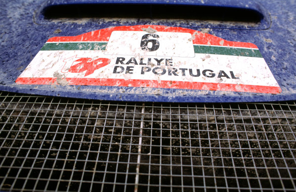 2001 World Rally Championship. Rally Portugal, Portugal. 8th-11th March 2001. Front grill and bonnet of the Subaru advertising Portugal Rally. World Copyright: McKlein / LAT Photographic. Ref: Portugal A12