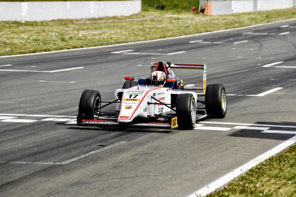 Arthur Leclerc, US Racing - CHRS crosses the finish line