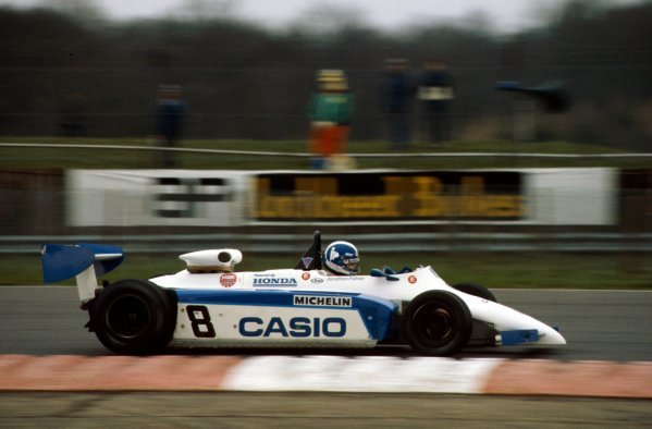 Jonathan Palmer (GBR) Ralt RH6/83H Mugen Honda retired due to dirt in the fuel. European Formula 2 Championship, Silverstone, England, 20 March 1983.