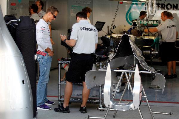 Korea International Circuit, Yeongam-Gun,South Korea.13st October 2011.Michael Schumacher, Mercedes GP W02. Portrait. World Copyright:Charles Coates/LAT Photographicref: Digital Image _X5J0590