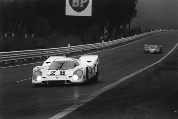 1970 Spa Francorchamps 1000 kms. Spa Francorchamps, Belgium. 17th May 1970. Rd 6. Vic Elford/Kurt Ahrens, Jr. (Porsche 917K), 3rd position, action.  World Copyright: LAT Photographic. Ref: 3078 - 23A-24.