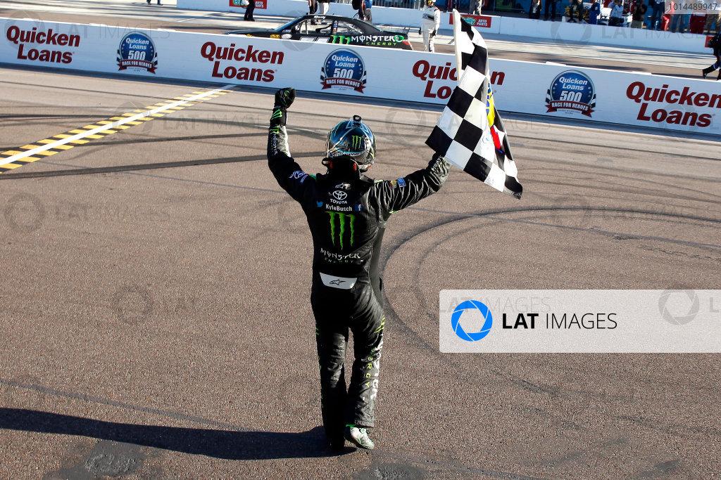 13-14 November, 2015, Avondale, Arizona USA Kyle Busch, Monster Energy Toyota Camry celebrates his win  ?2015, Russell LaBounty LAT Photo USA