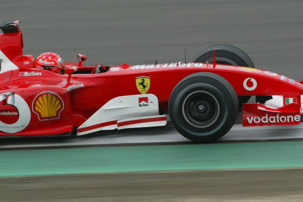 2003 European Grand Prix - Saturday Qualifying, Nurburgring, Germany.28th June 2003.Michael Schumacher, Ferrari F2003 GA, action.World Copyright LAT Photographic.Digital Image Only.