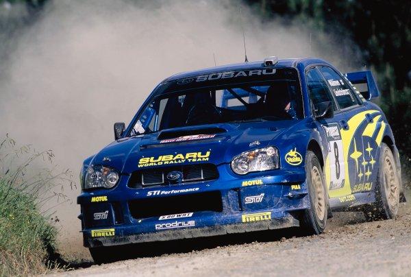 2003 World Rally ChampionshipRally New Zealand. 9th - 13th April 2003.Tommi Makinen/Kaj Lindstrom (Subaru Impreza WRC2003), 7th position.World Copyright: LAT Photographicref: 35mm Image A08