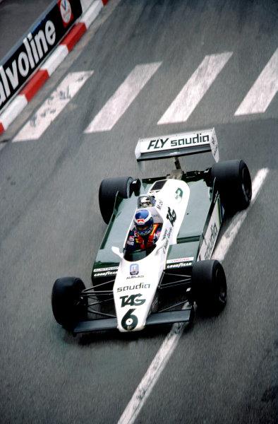 1982 Monaco Grand Prix.Monte Carlo, Monaco. 23 May 1982.Keke Rosberg (Williams FW08-Ford Cosworth).World Copyright: LAT Photographic
