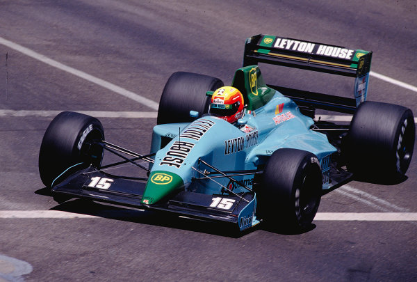 1989 United States Grand Prix.Phoenix, Arizona, USA.2-4 June 1989.Mauricio Gugelmin (March CG891 Judd).Ref-89 USA 38.World Copyright - LAT Photographic