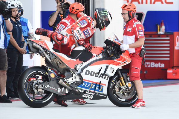 2017 MotoGP Championship - Round 14 Aragon, Spain. Saturday 23 September 2017 Jorge Lorenzo, Ducati Team World Copyright: Gold and Goose / LAT Images ref: Digital Image 13632