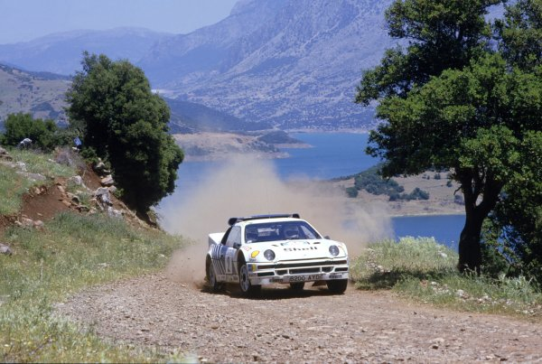 1986 World Rally Championship. Acropolis Rally, Greece. 2nd - 4th June 1986. Stig Blomqvist/Bruno Berglund (Ford RS200), retired, action. World Copyright: LAT Photographic Ref: 35mm transparency 86RALLY18