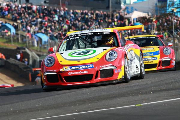 2017 Porsche Carrera Cup GB Brands Hatch, 1st-2nd April 2017 Justin Sherwood  World Copyright. JEP/LAT Images