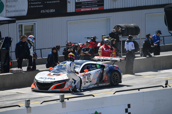 Pirelli World Challenge Victoria Day SpeedFest Weekend Canadian Tire Motorsport Park, Mosport, ON CAN Saturday 20 May 2017 Ryan Eversley/ Tom Dyer pit stop World Copyright: Richard Dole/LAT Images ref: Digital Image RD_CTMP_PWC17089