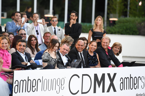 Monte Carlo, Monaco. Friday 26 May 2017. Paddy Lowe (GBR) Williams Shareholder and Technical Director and wife Anna Danshina (RUS) at the Amber Lounge Fashion Show, Le Meridien Beach Plaza Hotel, Monaco  World Copyright: Mark Sutton/Sutton/LAT Images ref: Digital Image dcd1727my323