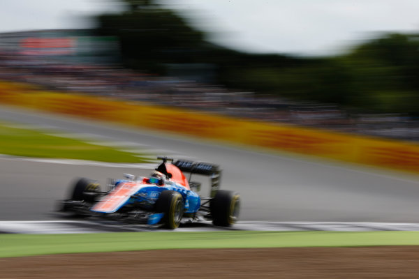 Silverstone, Northamptonshire, UK Friday 8 July 2016. Pascal Wehrlein, Manor MRT 05 Mercedes. World Copyright: Hone/LAT Photographic ref: Digital Image _ONZ9944