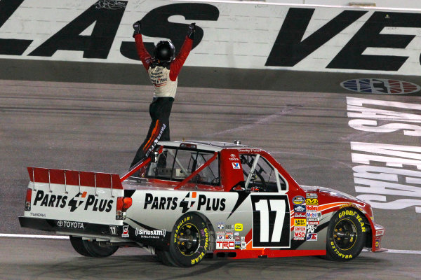 28 September, 2013, Las Vegas, Nevada USA Timothy Peters celebrates his win © 2013, Russell LaBounty LAT Photo USA